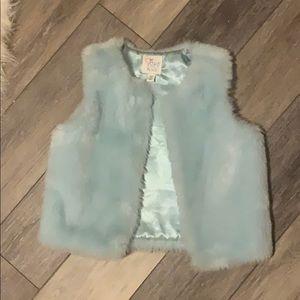 Children's Place faux fur vest Youth M (7/8)